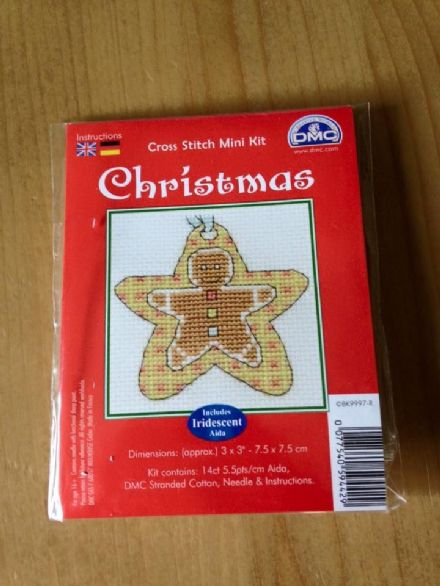 Gingerbread Star DMC Mini Kit